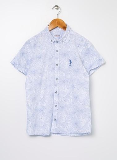 U.S. Polo Assn. U.S. Polo Assn. Açık Mavi Erkek Çocuk Gömlek Mavi